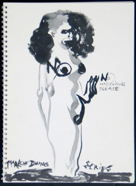 Exhibition view Marlene Dumas: Strips - Flatland Gallery Amsterdam