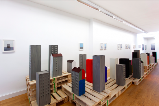 Exhibition view – T H E S I L E N T C I T Y – Paolo Ventura - Flatland Gallery Amsterdam