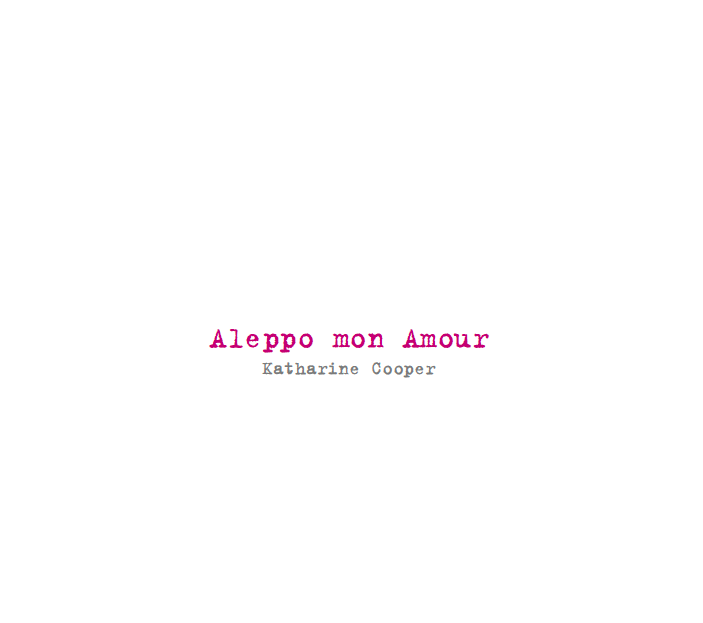 Katharine Cooper – Aleppo, mon amour preview
