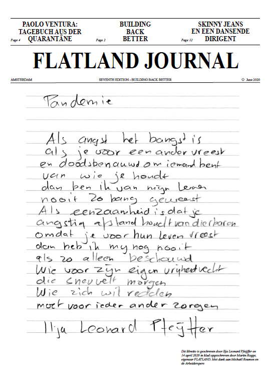 Flatland Journal VII preview