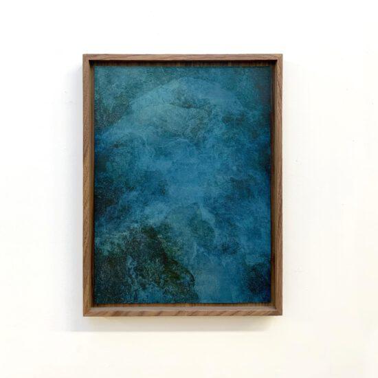 Exhibition view Akui Gawa Indigo #3 (2020) - Flatland Gallery Amsterdam